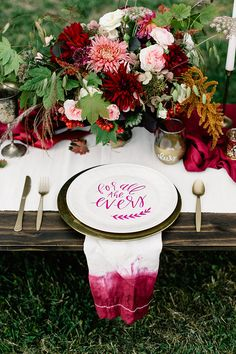 fall calligraphy wedding inspiration - photo by Gina Paulson Photography http://ruffledblog.com/fall-calligraphy-wedding-inspiration