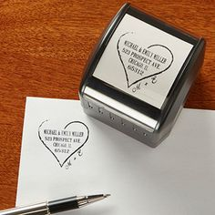 Personalized Self-Inking Return Address Stamp - Heart Of Love ... this will save you TONS of time and money! Great wedding gift idea!