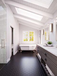 """georgianadesign: """"'Attic bathroom remodel.' Square Inch Design, architects & building designers, Cincinnati, OH. """""""