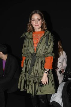 Olivia Palermo attends the Alberta Ferretti show during Milan Fashion Week Fall/Winter 2018/19 on February 21 2018 in Milan Italy