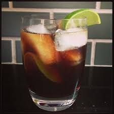 Cuba Libre with Kraken rum, Jarritos Cola and lime (photo by Julie Wolfson. Kraken Rum, Beverages, Drinks, Pint Glass, Lime, Cocktails, Eat, Tableware, How To Make
