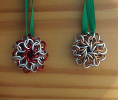 Trinity Flowers Ornaments by noldolante at MAIL  http://www.mailleartisans.org/gallery/gallerydisplay.php?key=3905