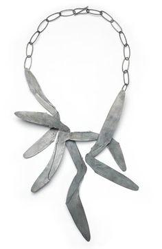 Doris Betz  Necklace: Untitled 2007  Silver, oxidized  60 cm