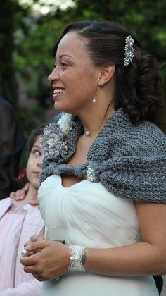Bolero Shrug Bridal Shawl Bridesmaid Shawl Wedding by denizy03