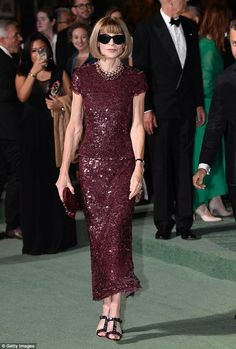 Eye-catching: She was joined at the event by Vogue editor-in-chief Anna Wintour, 67, who s...