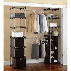 Genial Mainstays Closet Storage, Silver/Black
