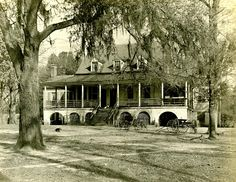 'Eutaw, residence of Mr. Wm. H. Sinkler of Eutawville, S.C. Built 1810. -- Original plantation lands were located near present-day Eutaw Springs and were between the Santee River and Eutaw Creek. It is now submerged under Lake Marion as a result of the Santee Cooper Hydroelectric and Navigation Project. image taken in 1901