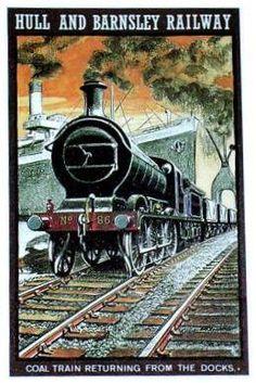 Hull and Barnsley Railway Poster