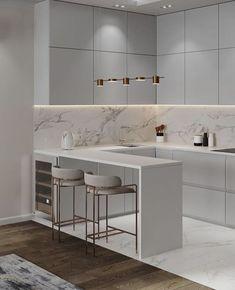 Kitchen Room Design, Luxury Kitchen Design, Home Room Design, Kitchen Cabinet Design, Home Decor Kitchen, Interior Design Kitchen, Apartment Kitchen, Luxury Kitchens, Home Kitchens
