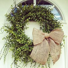 So I have ALWAYS wanted a boxwood wreath for our front door. I think they just look so fresh, and go with pretty much any season! When I re...