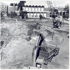 1972 Swanson Academic Center under construction, Alma College: Archival photographs.