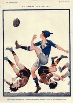 Shop Vintage French Women's Rugby - Poster created by TheRugbyStore. Personalize it with photos & text or purchase as is! French Vintage, Vintage Art, Poster Vintage, Vintage Images, Messi, Rugby Poster, Rugby Girls, Female Soccer Players, Womens Rugby