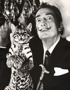 Dalí and Babou at the St. Regis hotel, New York where Dalí had a suite, 1965.