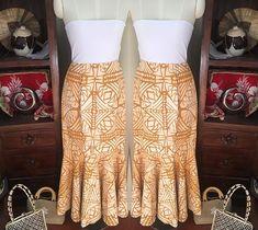 Samoan Designs, Polynesian Designs, Island Wear, Island Outfit, Hawaiian Party Outfit, Samoan Dress, Dress Paterns, Skirt Fashion, Fashion Dresses