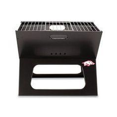 Picnic Time X-Grill 203.5-Sq In University Of Arkansas Razorbacks Portable Charcoal Grill 775-00-175-034-0