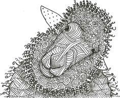 Curious sheep zentangle inspired art. 4-26-15