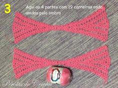 .     Nesse momento da foto 5 você pode fazer mais correntinhas para aumentar o tamanho da blusa. Faça, por exemplo, 10 cor... Beach Crochet, Crochet Summer Tops, Crochet Halter Tops, Crochet Tunic, Love Crochet, Diy Crochet, Crochet Clothes, Crochet Chart, Crochet Stitches