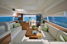 Take A Catamaran Sailing Charter – Room Enough To Move Around Luxury Yacht Interior, Boat Interior, Luxury Yachts, Luxury Boats, Interior Design, Yacht Design, Boat Design, Hatteras Yachts, Design Your Own Home