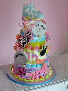 Hip hop cake OMG perfect for KK for her party and recital night she would die of happiness!