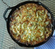 Cauliflower and ham clafoutis - -