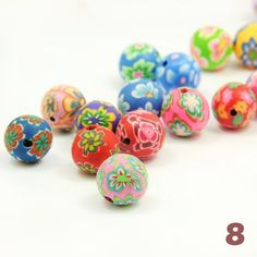 Polymere clay beads