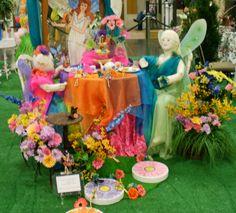 "Dogwood Arts Festival -House & Garden Show"" Design for Dining setup  - ""Fairy Garden Tea Party"" Design by Tea & Treasures"