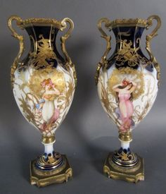 Pair of Sevres Porcelain Urns : Lot 7