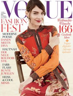 visual optimism; fashion editorials, shows, campaigns & more!: eigen-moderne modepoesie: kati nescher by giampaolo sgura for vogue germany december 2014