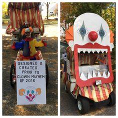 Golf cart clown theme created for a parade.