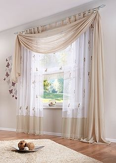 Why buy it when you can make it yourself? Find step-by-step instructions for making your own home decor, wedding decorations, and crafts including projects for . Curtains For Arched Windows, Home Curtains, Curtains Living, Curtains With Blinds, Short Window Curtains, Scarf Curtains, Window Scarf, Modern Curtains, Curtain Designs For Bedroom