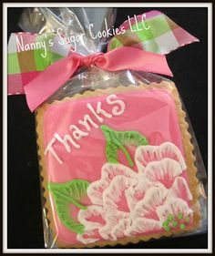 images of thank you cookies Party Treats, Holiday Treats, Thanks Messages, Thank You Cookies, Flower Cookies, Housewarming Party, Decorated Cookies, Cut Outs, Cookie Decorating