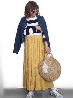 インスタ: mii_wear 春になると沢山着たくなるボーダー。 いつもは細めを選んでしまうから、