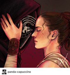 """panda-capuccino: """" I felt you escape into empty space where my heart can't feel Down in that darkness you met all the things you feared (Stomach it - Crywolf) Hey :) Finally some Reylo, huh? This song is gorgeous and perfect, I heard it for the first. Star Wars Kylo Ren, Rey Star Wars, Star Wars Art, Kylo Rey, Kylo Ren And Rey, Reylo Fanart, Star Wars Personajes, Star Wars Love, Star Wars Ships"""