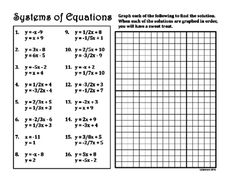 Systems of Linear Equations by Graphing from DawnMBrown on TeachersNotebook.com -  (3 pages)  - Need a fun way for students to check if they are right?