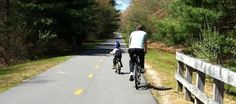 The William C. O'Neill Bike Path (South County Bike Path) is a 7 mile trail starting at the Kingston Train Station. Free parking is available.