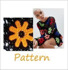Crochet sweater pattern for women size L #crochettoppattern