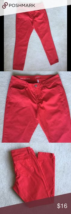 Ann Taylor Loft Red Skinny Jeans Size 8 These jeans are Ann Taylor Skinny Jeans. There are a size 8.  🚫NO TRADES!🚫 Ann Taylor Jeans Skinny