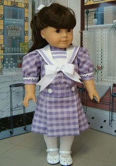 Victorian/Edwardian Styles design by Eve Coleman of Keepers Dolly Duds to fit American Girl Dolls Samantha and Nellie American Doll Clothes, Ag Doll Clothes, Doll Clothes Patterns, Doll Patterns, Clothing Patterns, American Girl Doll Samantha, American Girls, Pixie, Baby Doll Accessories
