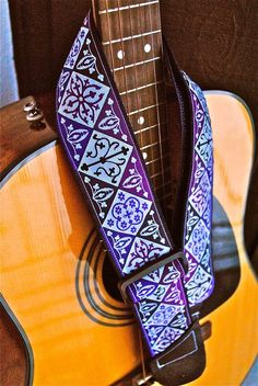 Adjustable Acoustic Guitar Strap  The Color by jlstephenscouture, $18.00