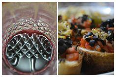Tomato & Black Olive Bruschetta with Red Wine   To make this recipe, visit the blog https://kitchenpostcards.wordpress.com/2013/12/12/tomato-and-mozzarella-bruschetta/
