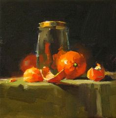 Tangerine Ensemble, painting by artist Qiang Huang