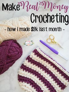 Last month I made over $9,000 with a hook and yarn! I did it by crochet blogging - and it's been the best decision I've ever made. | Free tutorial on starting your own crochet blog by Sewrella