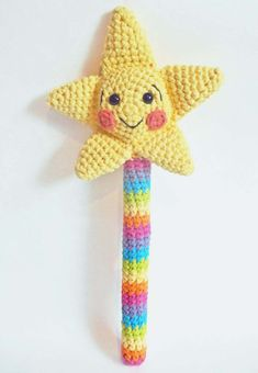 Crochet Toy - Pretend Magic Fairy or Princess Wand on Etsy, $25.00