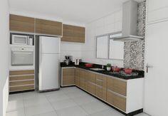 Cozinha planejada casa (Foto: Reprodução/Decorando Casas)