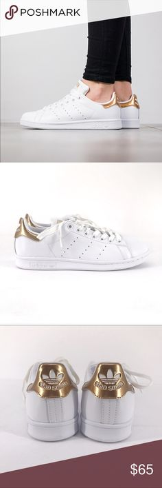 Adidas   Stan Smith W   Gold + White Adidas white and gold Stan Smith Original sneakers. New in box  Style: BB5155  62418 adidas Shoes Sneakers