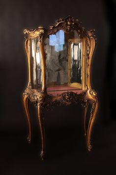 Louis XV 19th century Gilded Vitrine