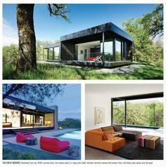 A Marmol Radziner prefab house near Ukiah, California. One day and it's put together. From Riviera Magazine SD.
