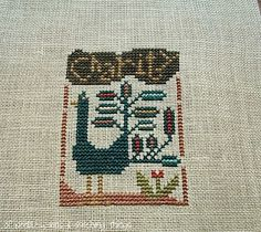 Of Needles, Pins & Stitching Things; CHS Charity stitched using 32ct Vanilla Gold and suggested threads