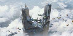 ArtStation - 'Above the sky', Arnaud Valette