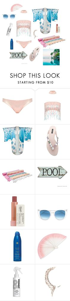 """""""Pool party in hotel"""" by balinawoop ❤ liked on Polyvore featuring Jaded, Tom Ford, Dolce&Gabbana, Hammamas, Kiehl's, Thierry Lasry, Soleil Toujours, FernFans, Toni&Guy and Cristina Ortiz"""